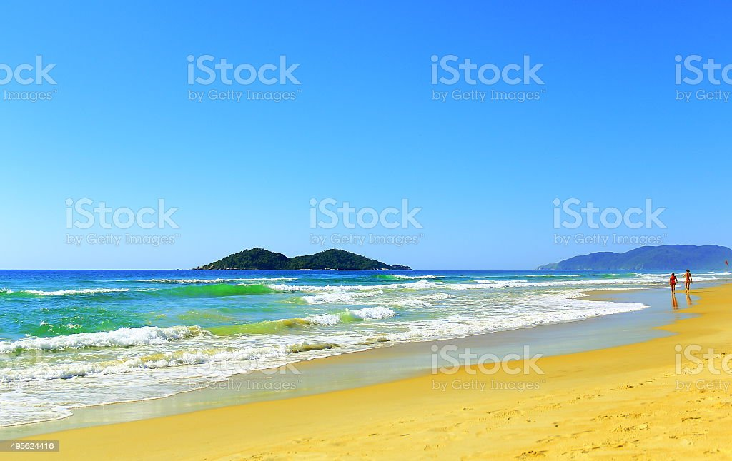 Paradise is almost empty yet Series stock photo