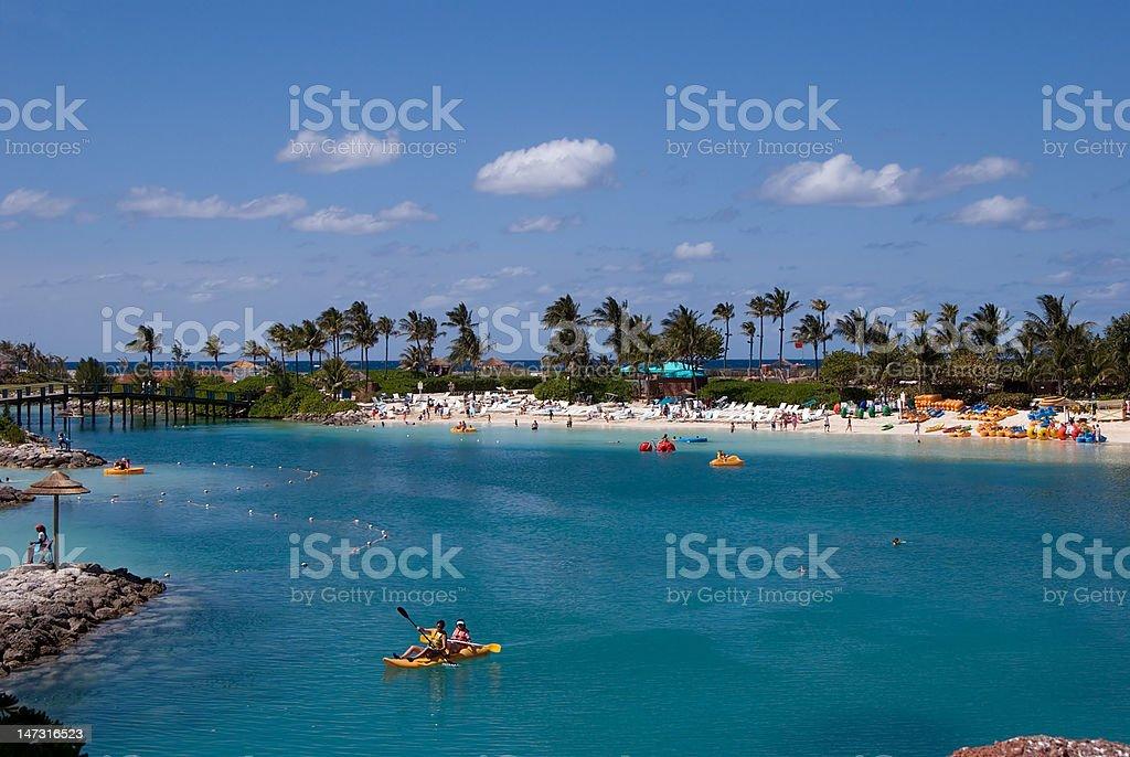 Paradise island lagoon royalty-free stock photo