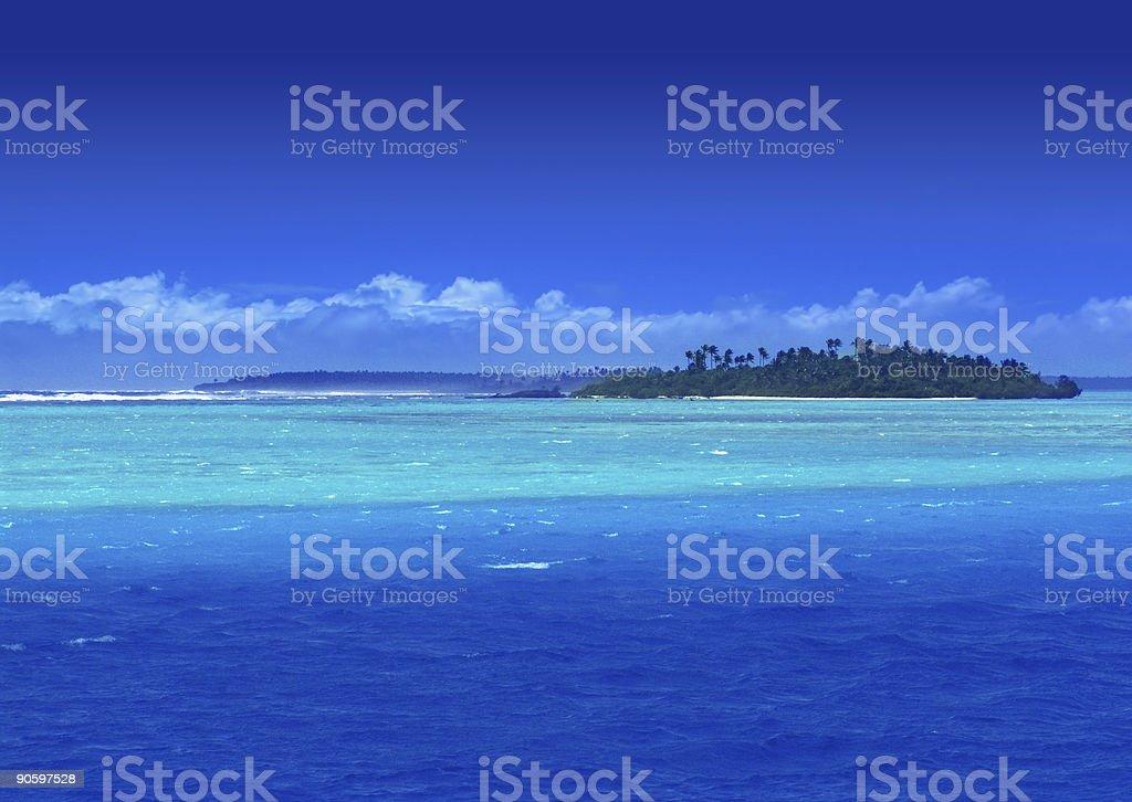 Paradise Lagoon royalty-free stock photo