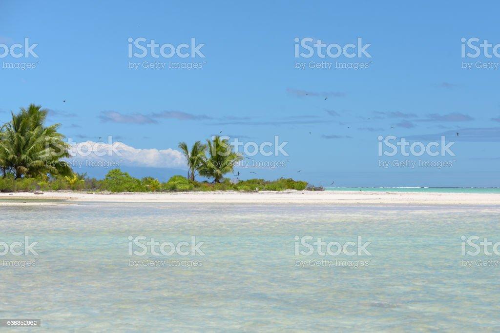 Paradise little island stock photo