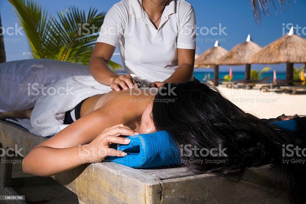 Paradise Massage Lizenzfreies stock-foto
