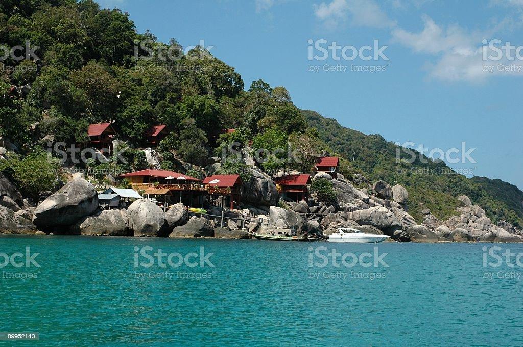 Paradise near the sea stock photo