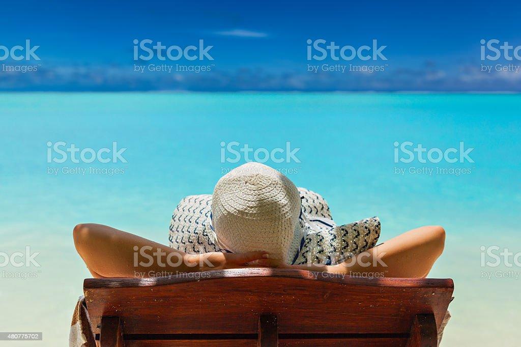 Paradise on the Caribbean Bahamas Maldivian Hawaiian beaches stock photo