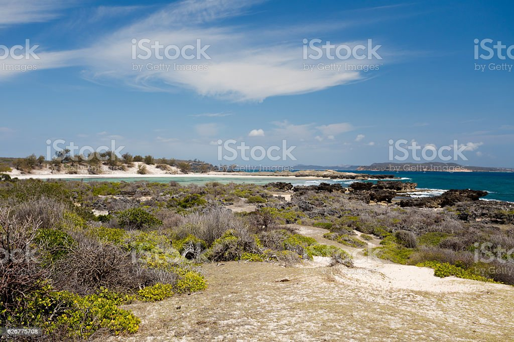 paradise rock beach in Madagascar, Antsiranana, Diego Suarez stock photo