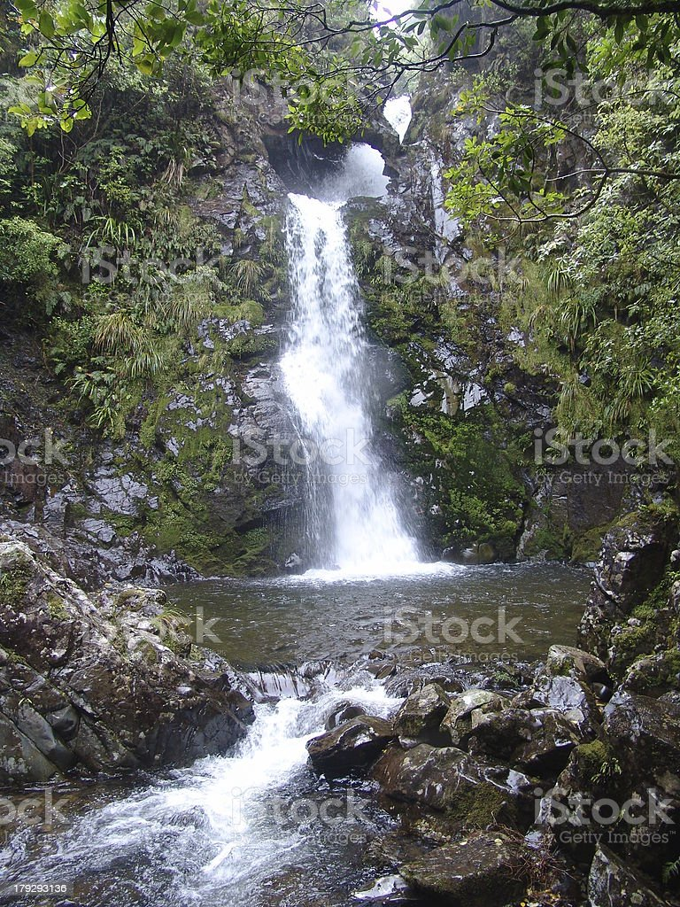 Paradise Style Waterfall royalty-free stock photo