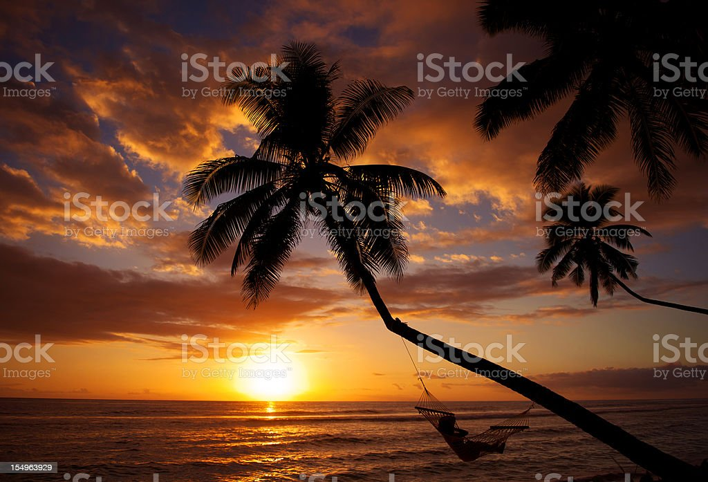 Paradise Sunset royalty-free stock photo