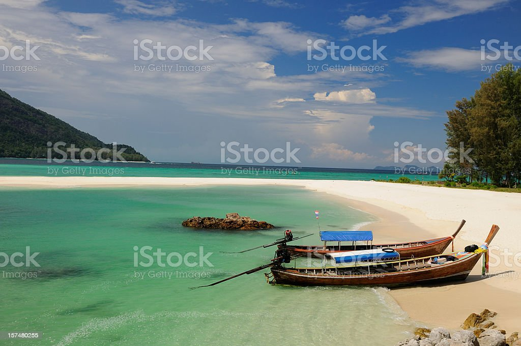 Paradise Tropical Beach, Koh Lipe, Thailand stock photo