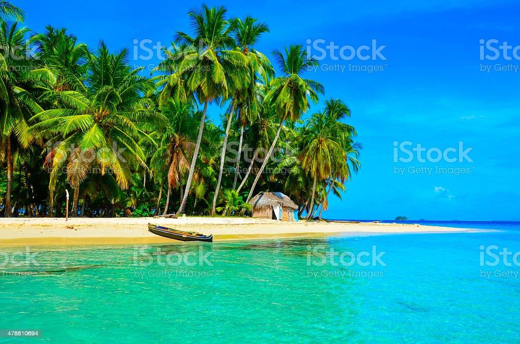 Paradise Tropical Island stock photo