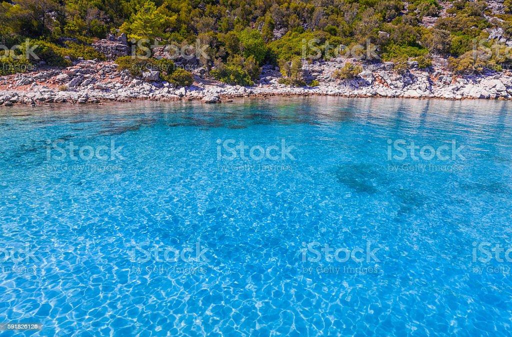 Paradise - Turquoise sea and nature stock photo