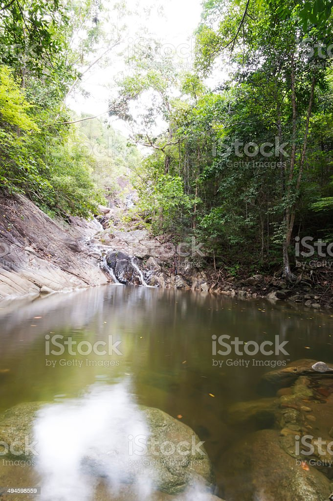 Paradise waterfall, Koh Phangan, Thailand royalty-free stock photo