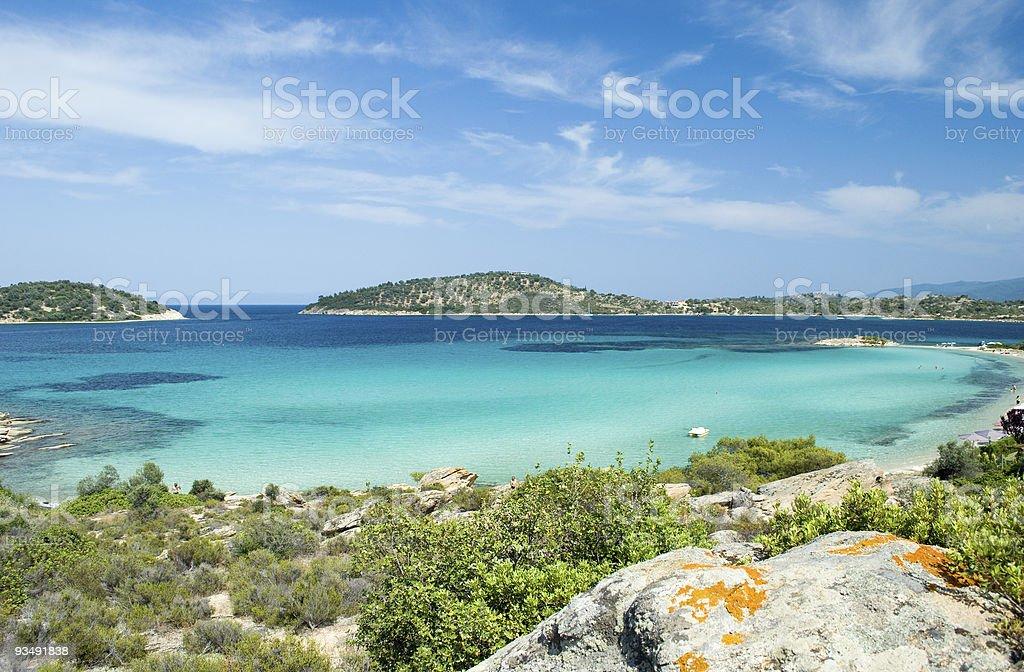Paradisiac beach stock photo
