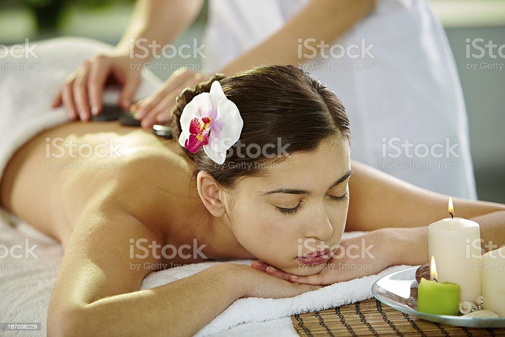 Paradisiacal relaxation royalty-free stock photo