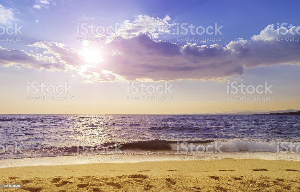 Paradisos beach in Greece stock photo
