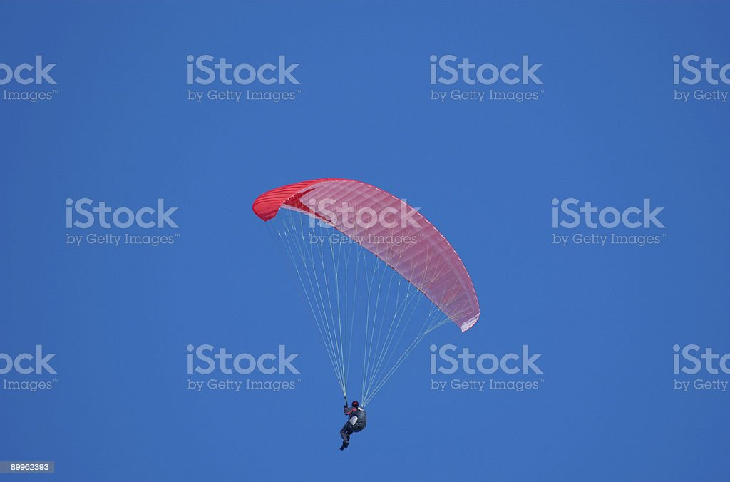 Paraglide in the air stock photo