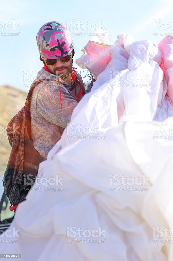 Paraglide stock photo