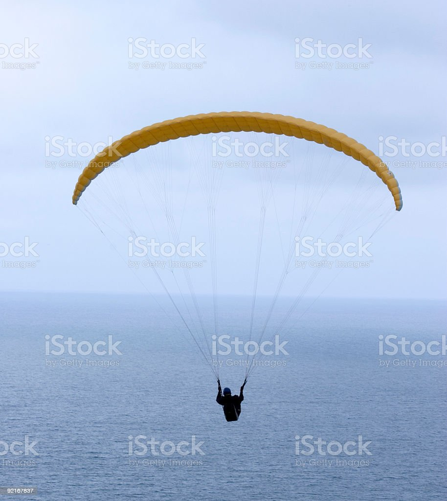 Paraglider Aloft royalty-free stock photo