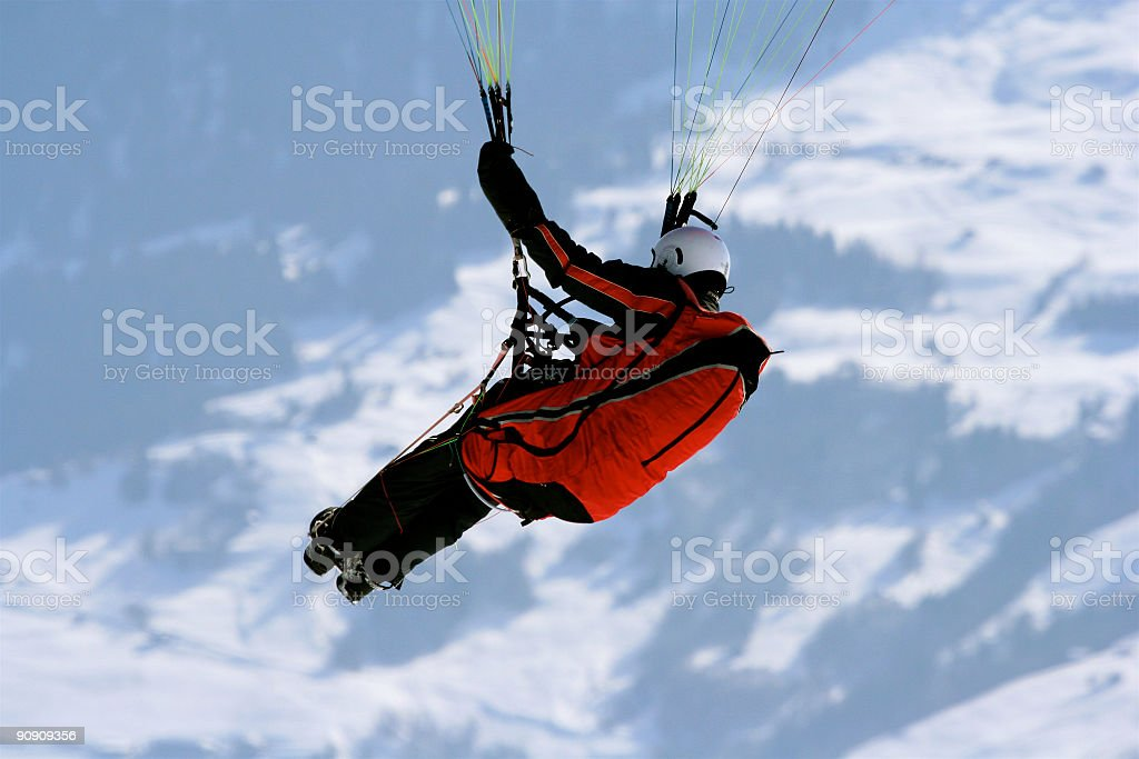 Paraglider close-up stock photo