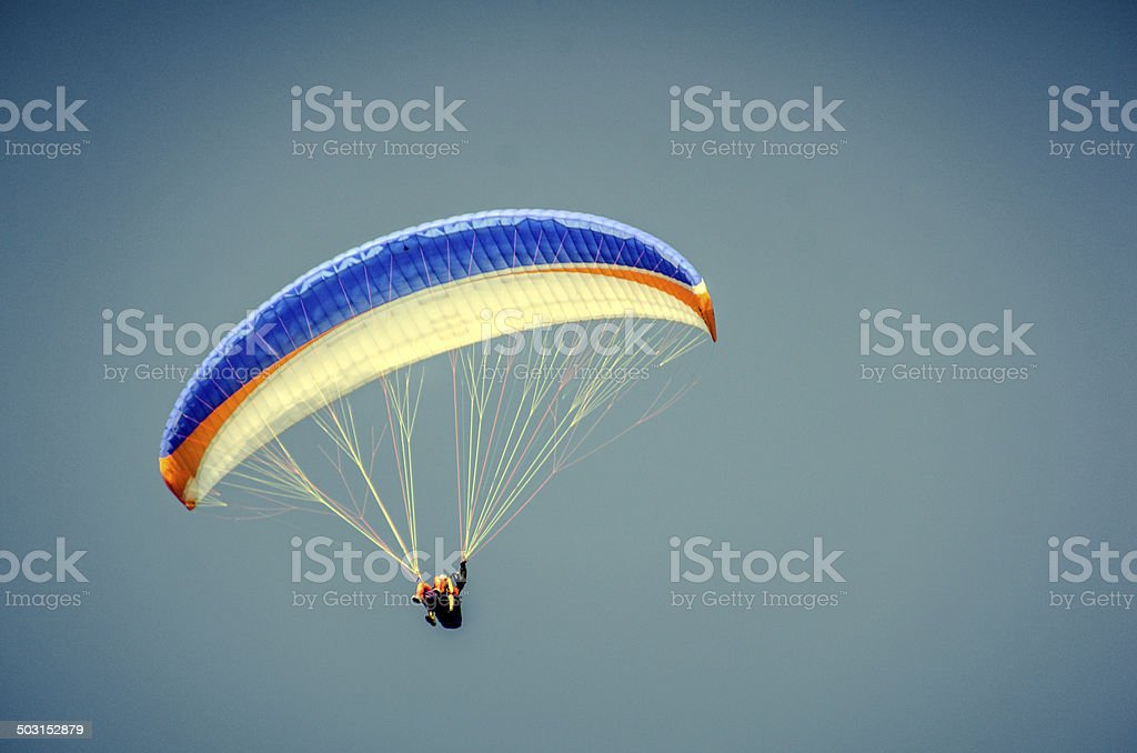 Paraglider in Slovenia stock photo
