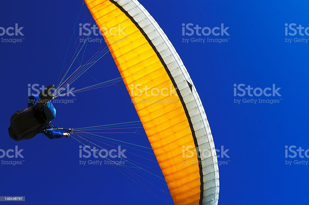 Paraglider in the Blue Sky at Torrey Pines, San Diego royalty-free stock photo