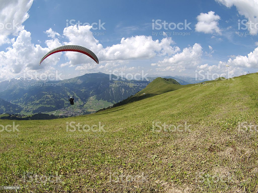 paraglider take off royalty-free stock photo