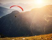 Paraglider taking off