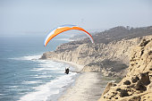 Paraglider Wing Ocean Flight