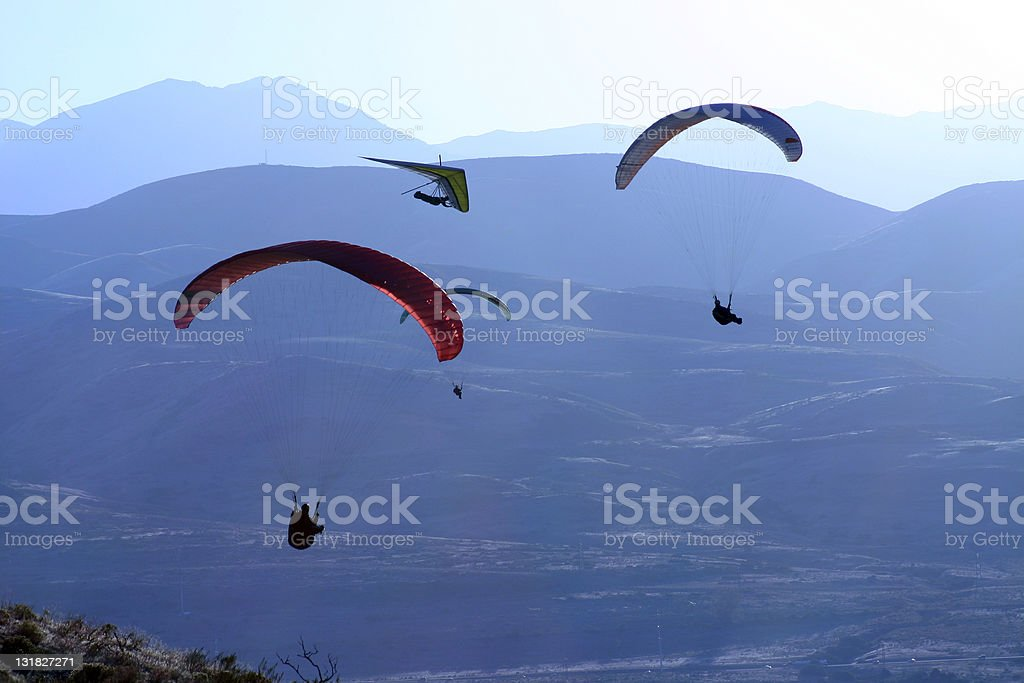 paragliders royalty-free stock photo