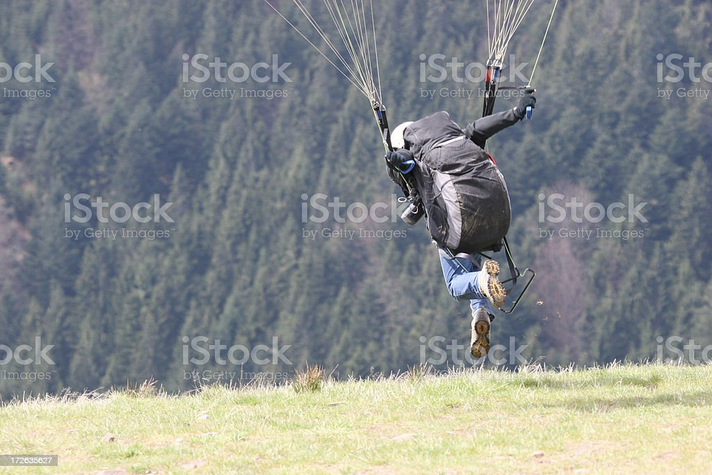 Paraglider's start up royalty-free stock photo