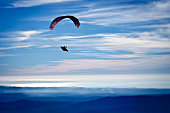 Paragliding above the hills