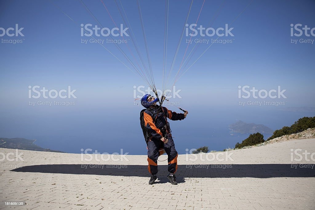 Paragliding in Fethiye Ölüdeniz royalty-free stock photo