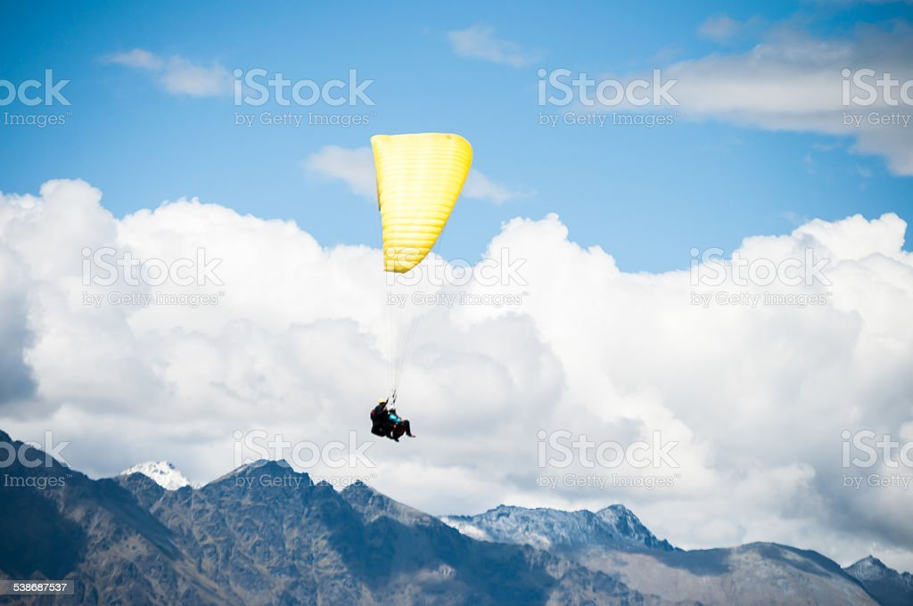 Paragliding stock photo