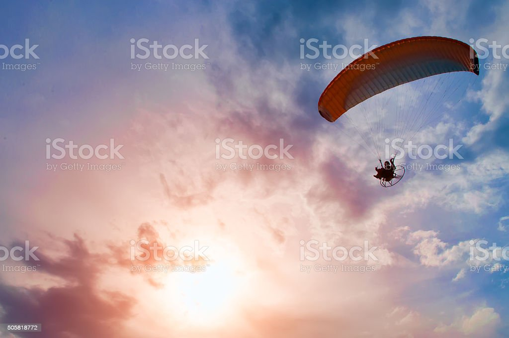 Paragliding propeller stock photo