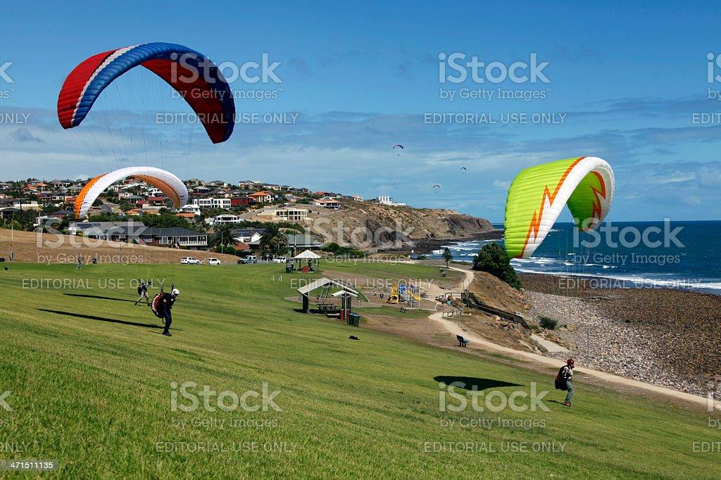 Paragliding Training stock photo