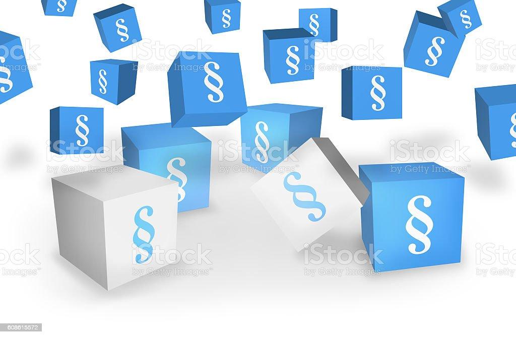 Paragraph 3D Illustration design stock photo