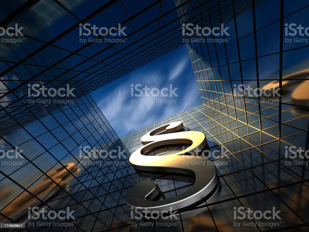Paragraph  on a corporate building stock photo