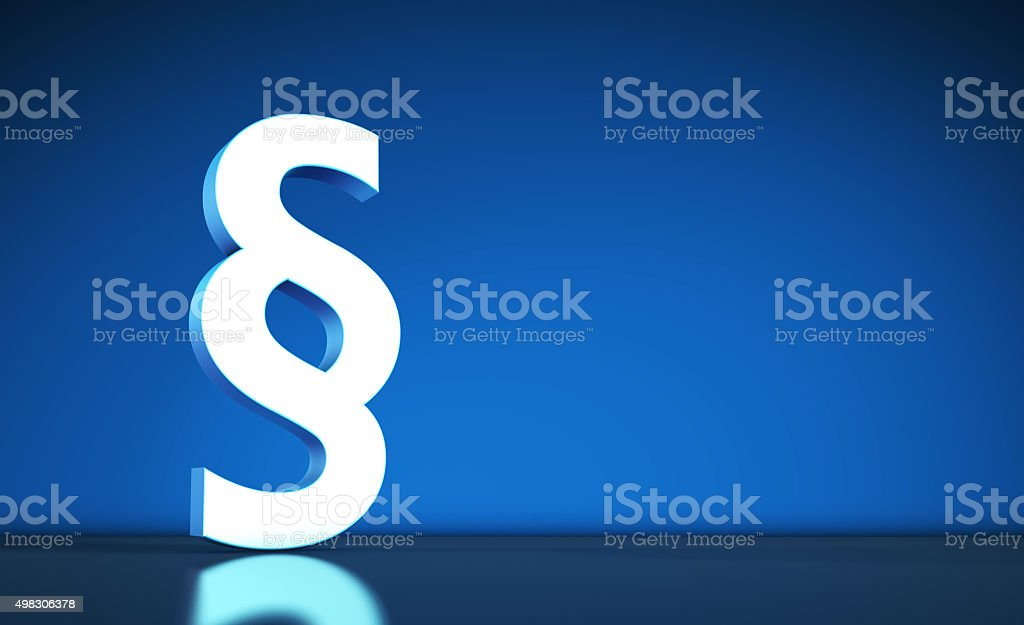 Paragraph Symbol And Icon stock photo