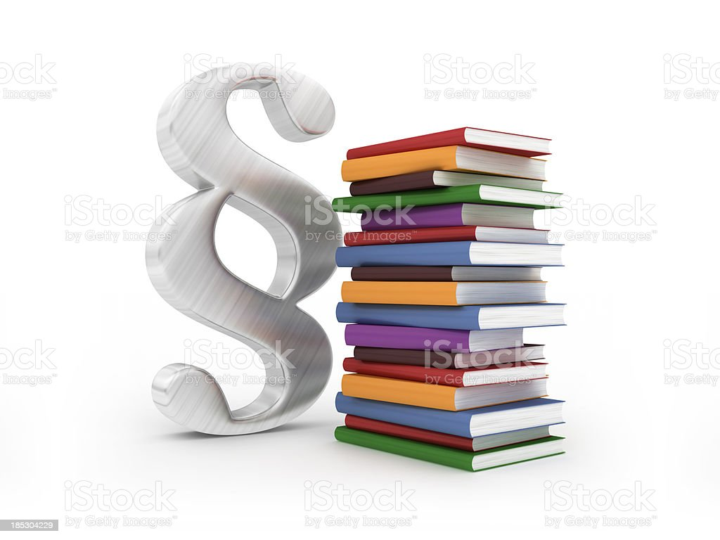 Paragraph with books stock photo
