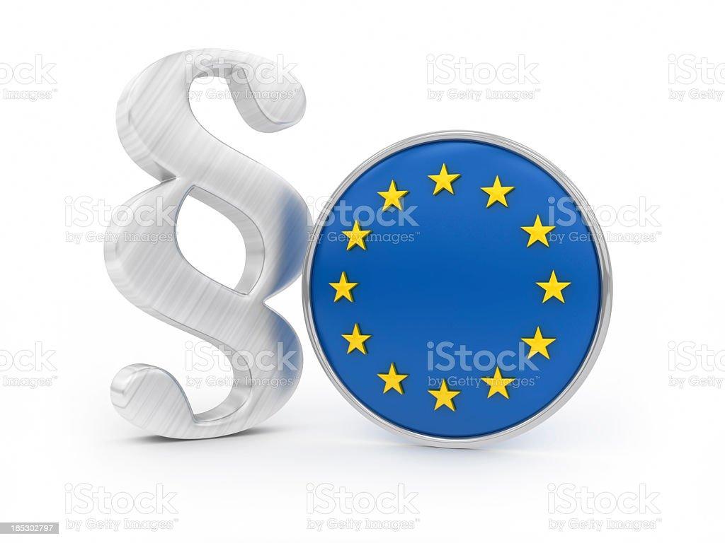 Paragraph with EU flag stock photo