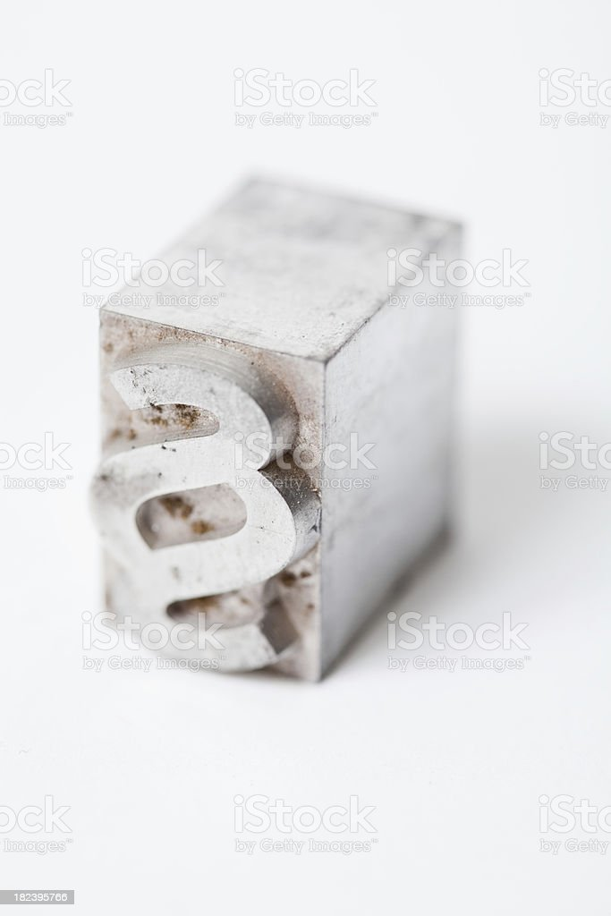 Paragraphe, article sign, old law - juridical font, block letter stock photo