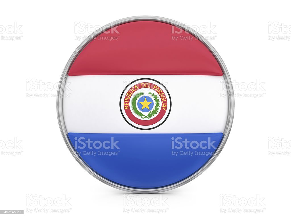 Paraguayan flag royalty-free stock photo