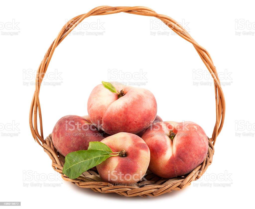 Paraguayos flat peaches stock photo