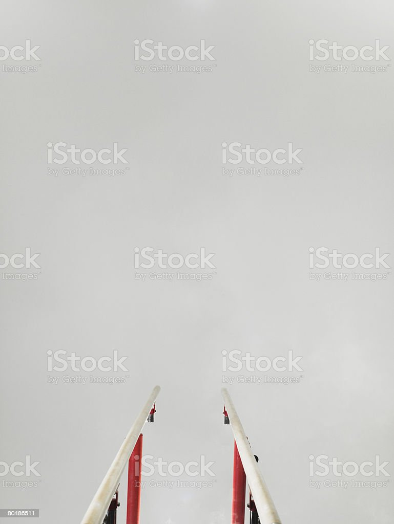 Parallel bars stock photo