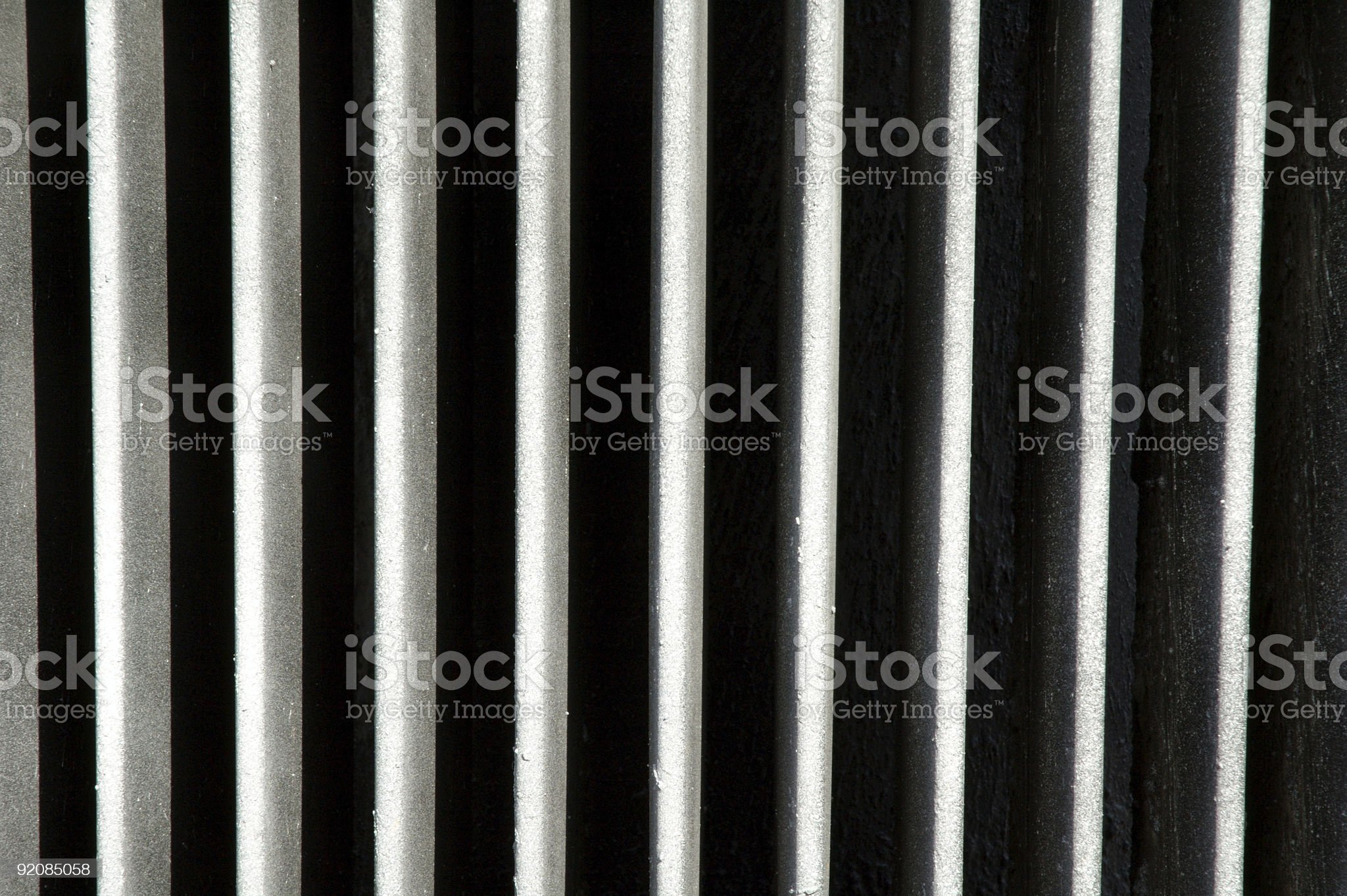Parallel lines on a radiator royalty-free stock photo