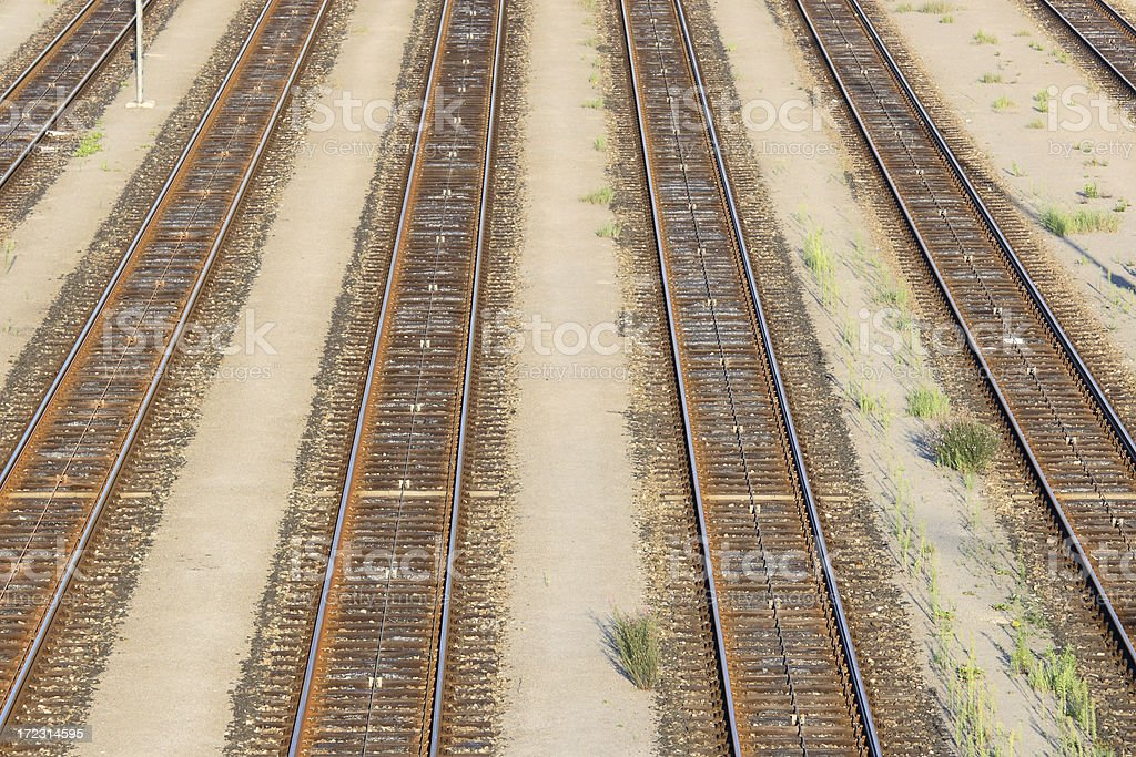 Parallel Railroad Tracks royalty-free stock photo