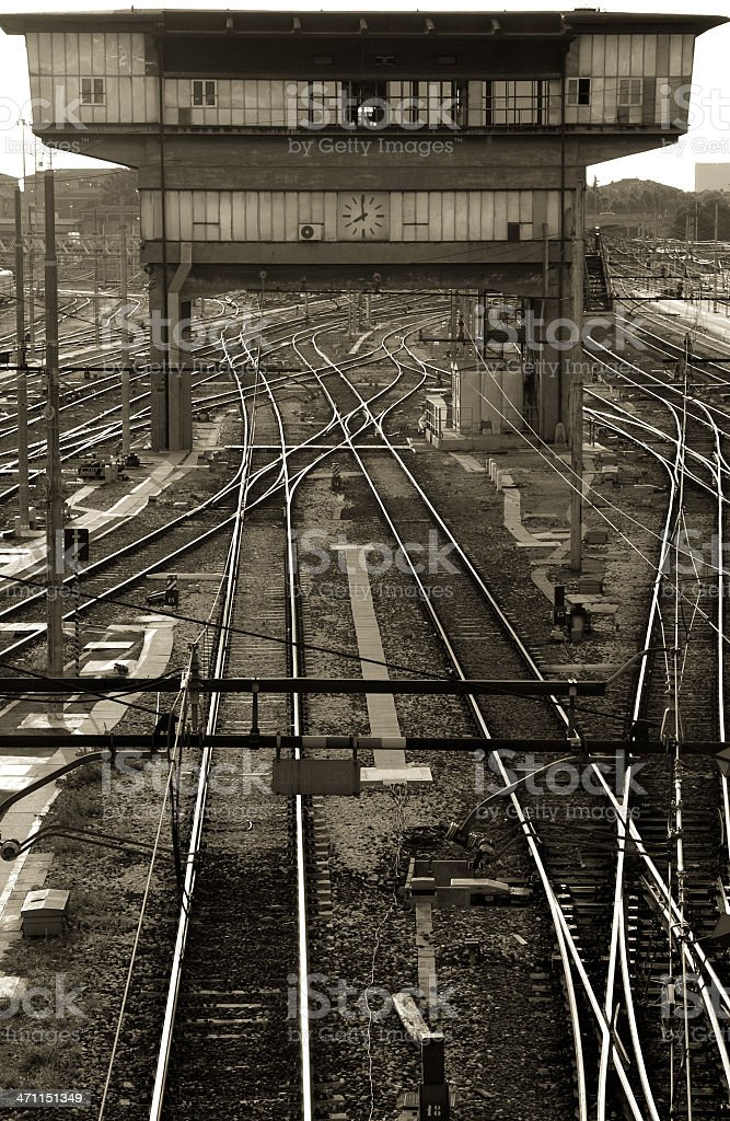Parallel tracks royalty-free stock photo