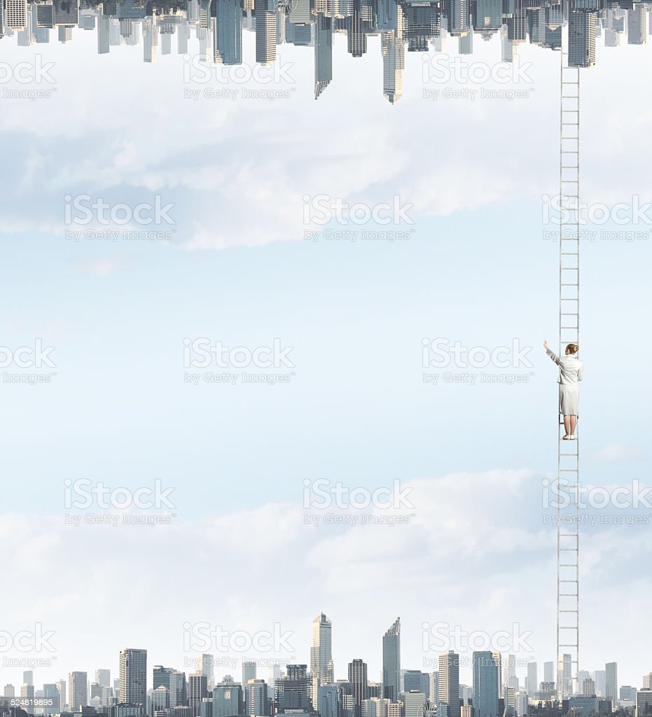 Parallel worlds stock photo