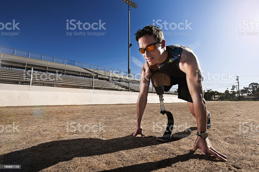 Paralympic Runner stock photo