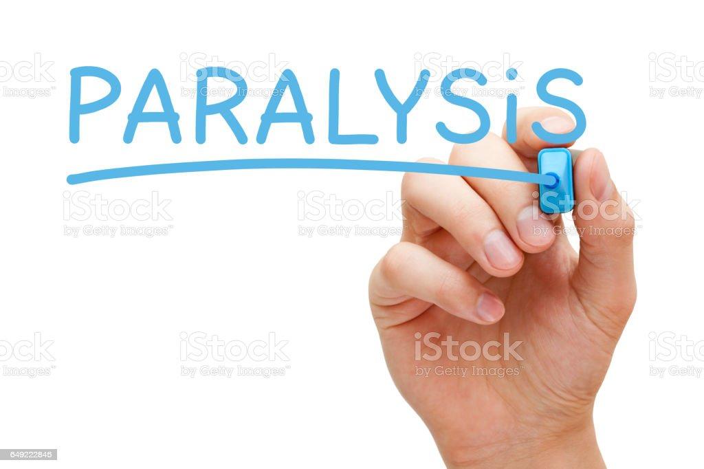 Paralysis Handwritten With Blue Marker stock photo