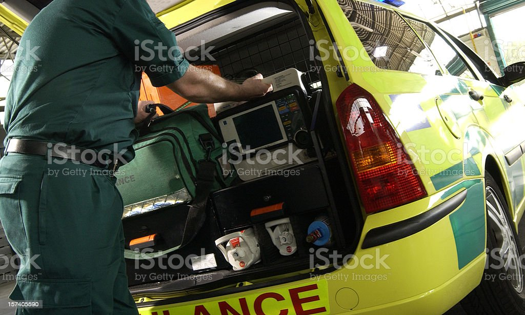 paramedic alert stock photo