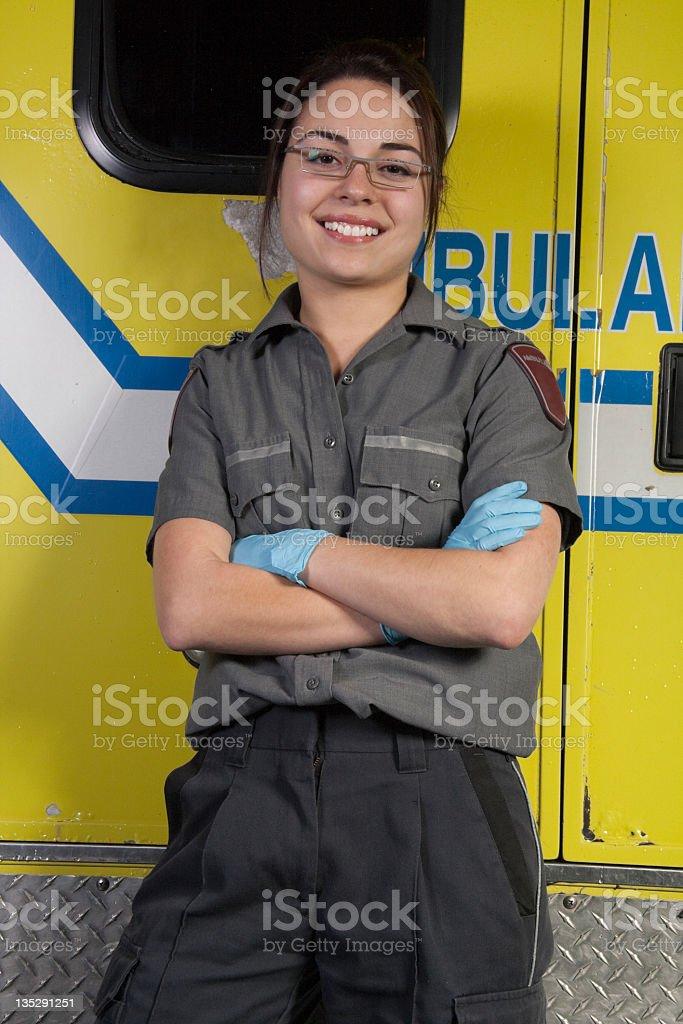 Paramedic ambulance royalty-free stock photo